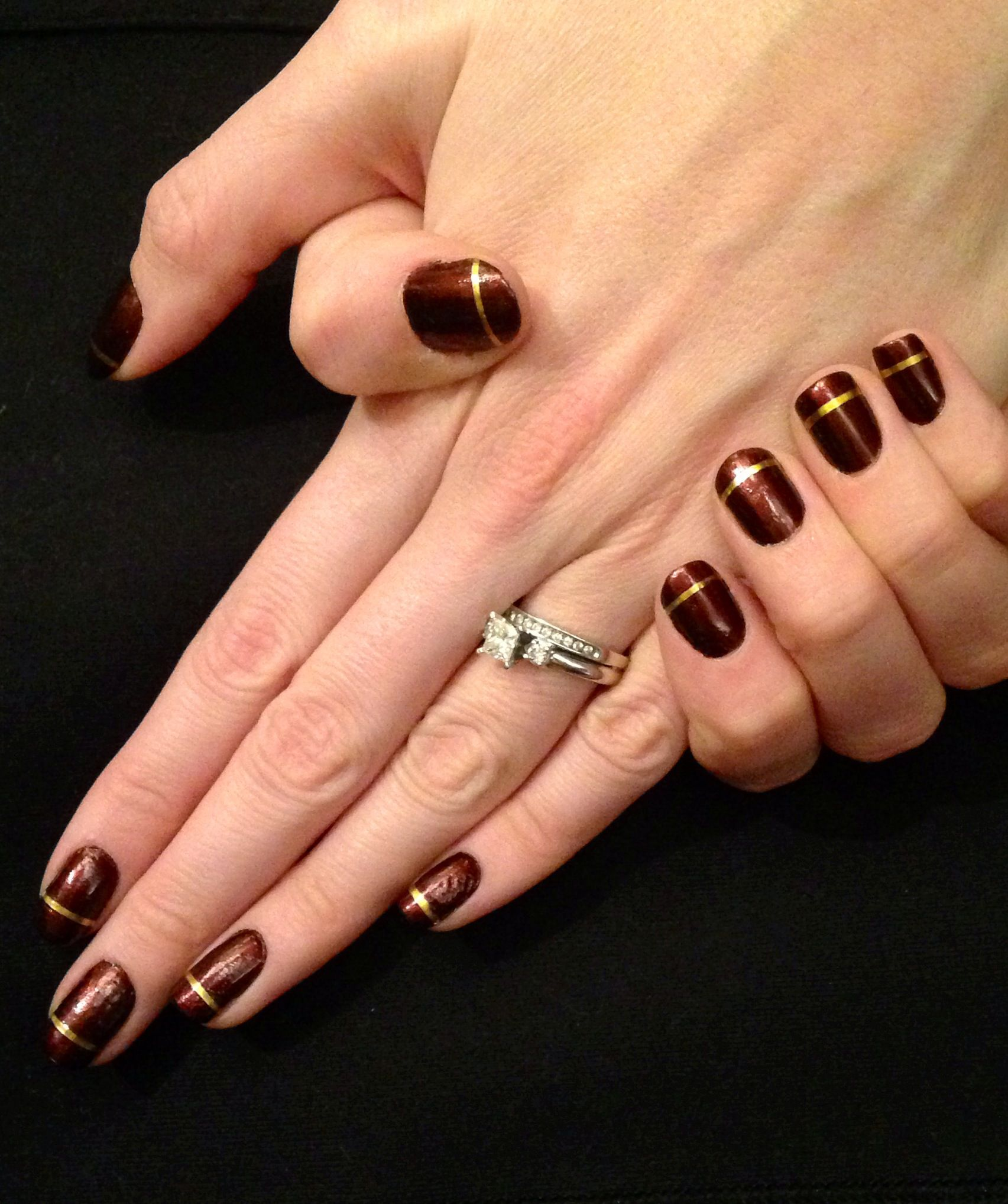 Nails This Week - Chocolate & Gold - Nails For Nickels