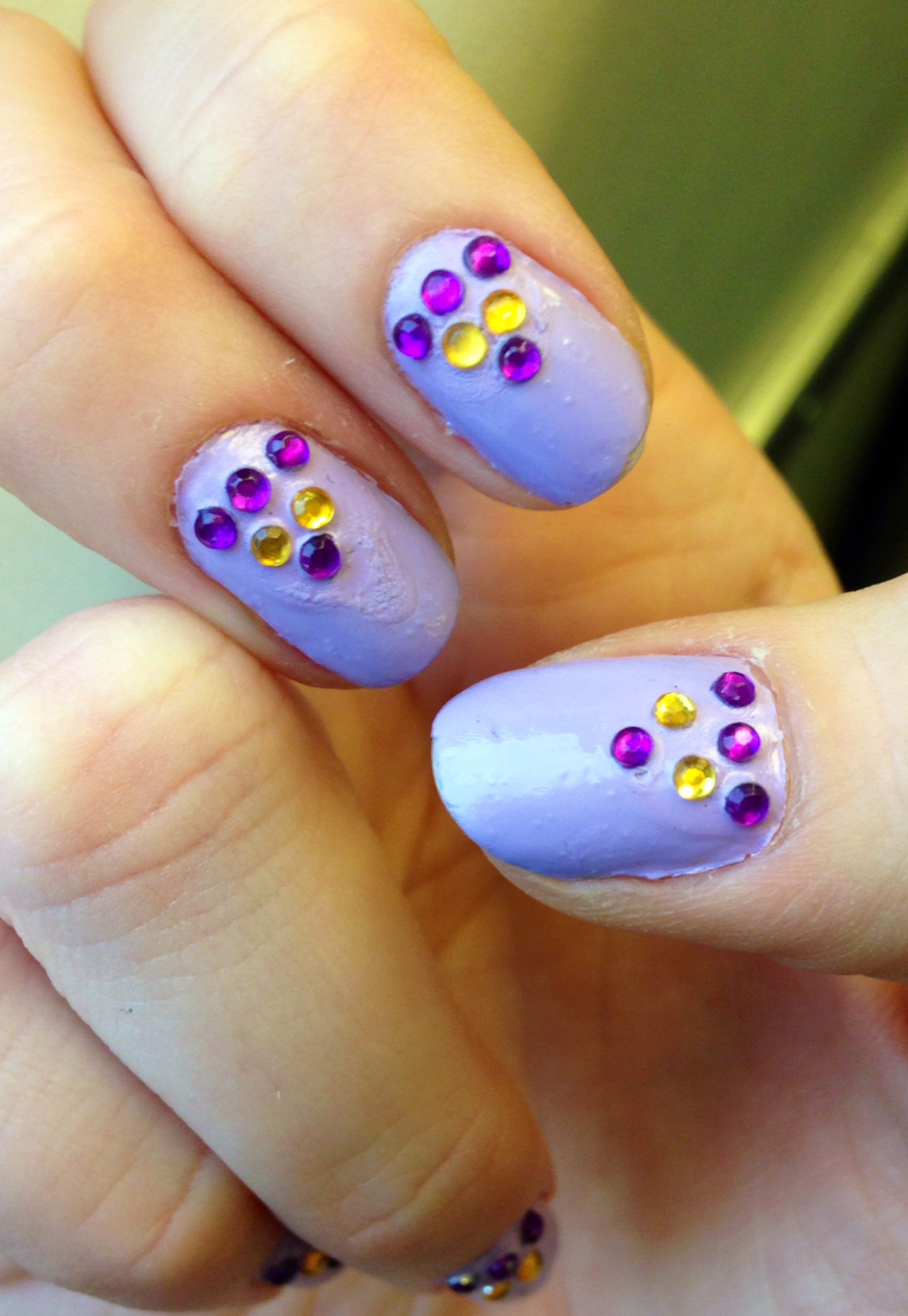 Nails This Week - Lilac & Jewels - Nails For Nickels