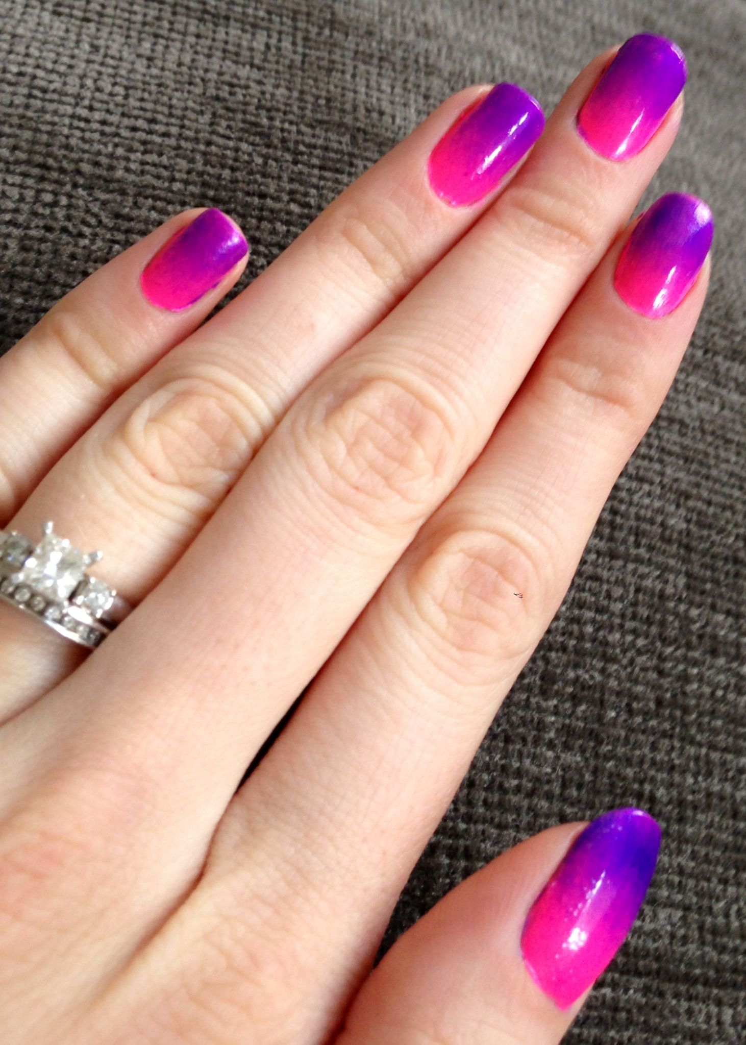 Nails This Week Pink Purple Ombre
