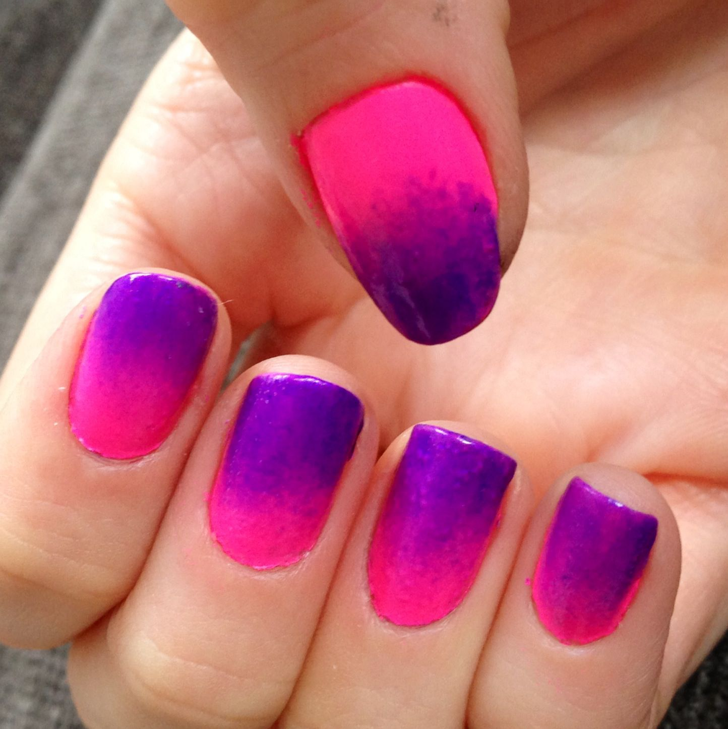Pink to purple nails - Miladies.net  Purple And Pink Nails