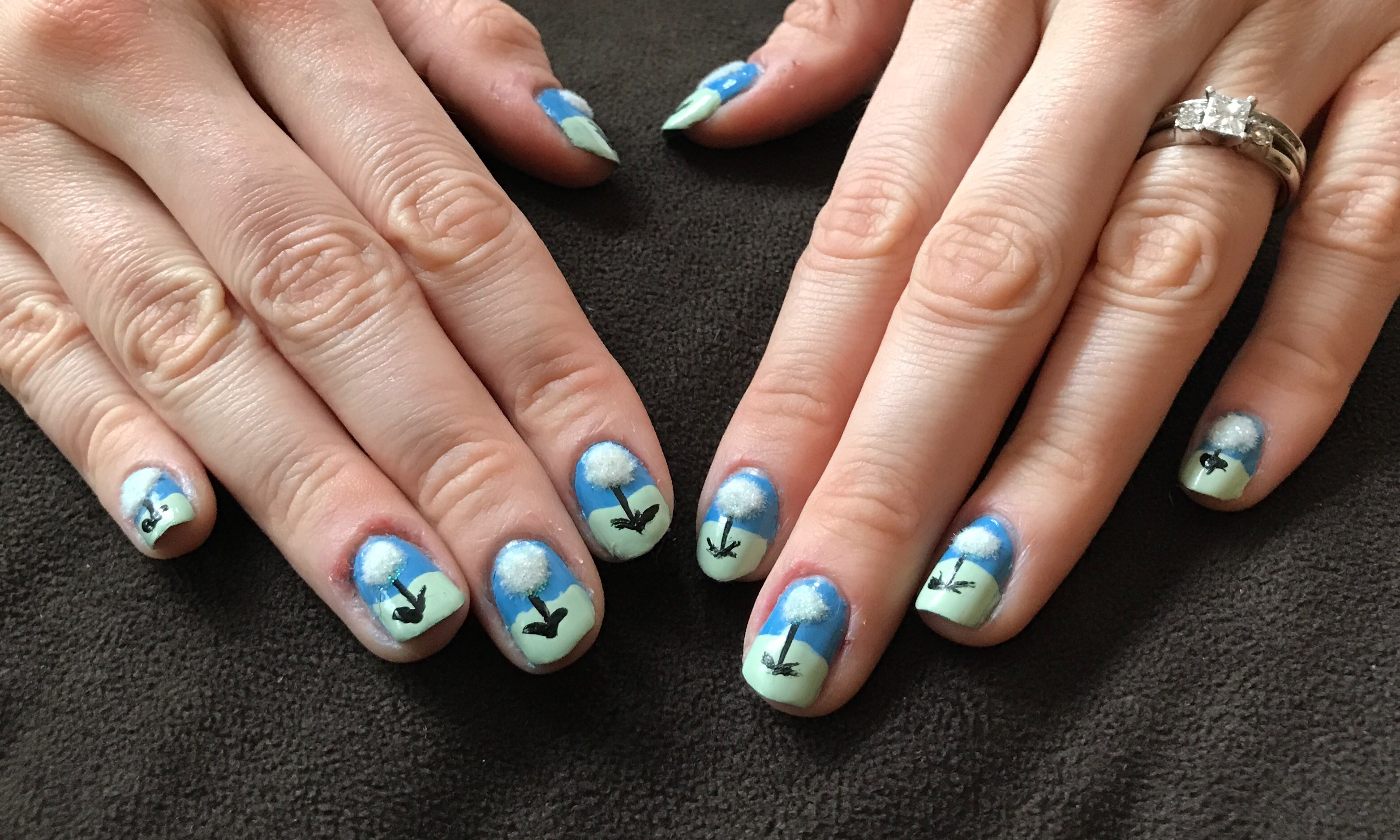 Earth Day - Tutorial - Dandelions - Nails For Nickels