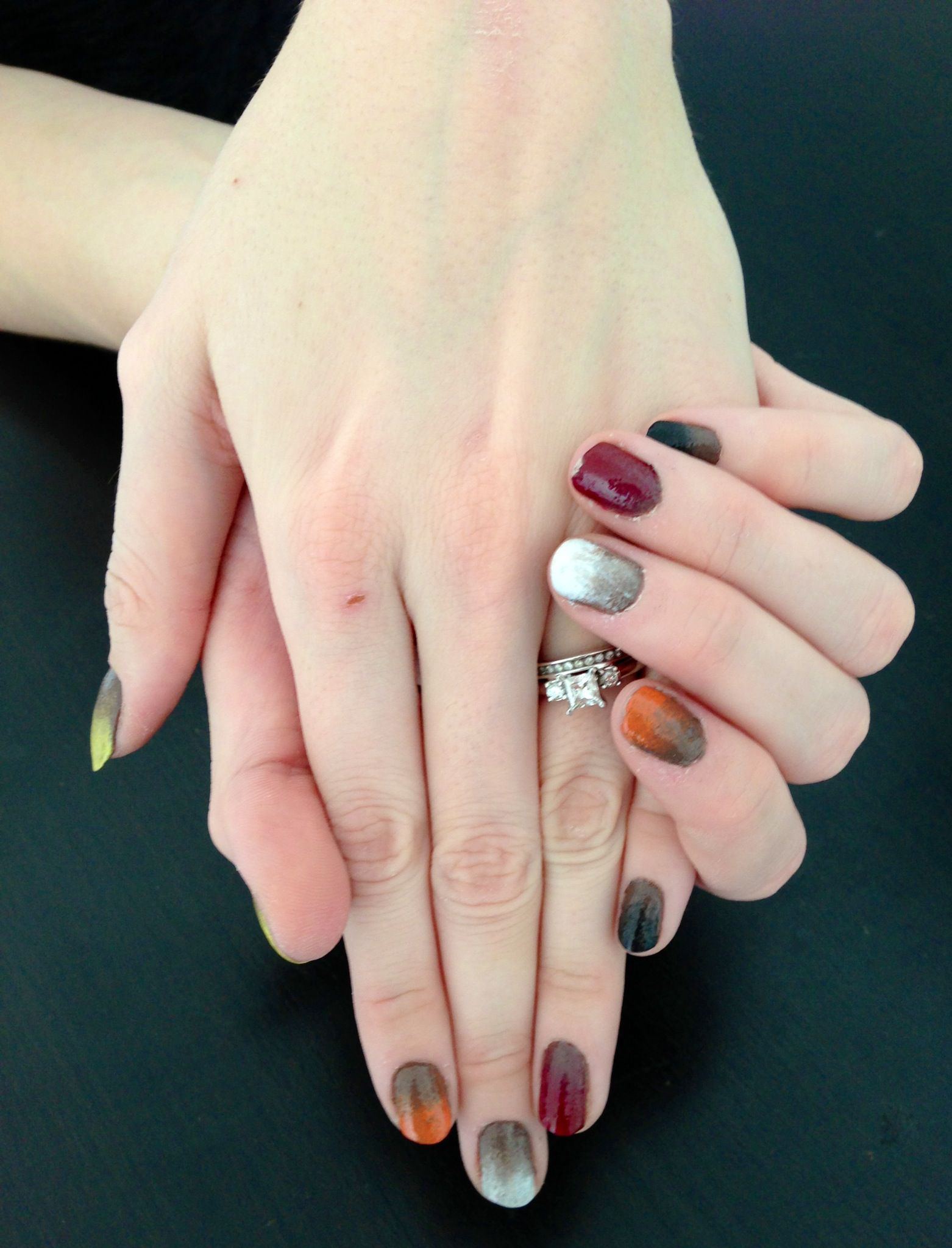 Tutorial - Ombre Fall Colors - Nails For Nickels