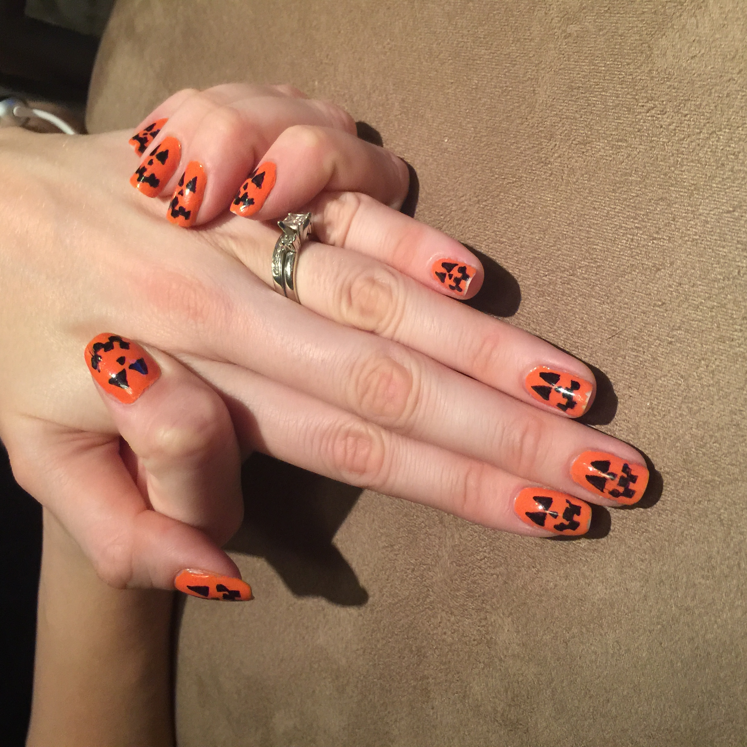 Halloween Month 2015 - Tutorial - Jack O\' Lanterns - Nails For Nickels