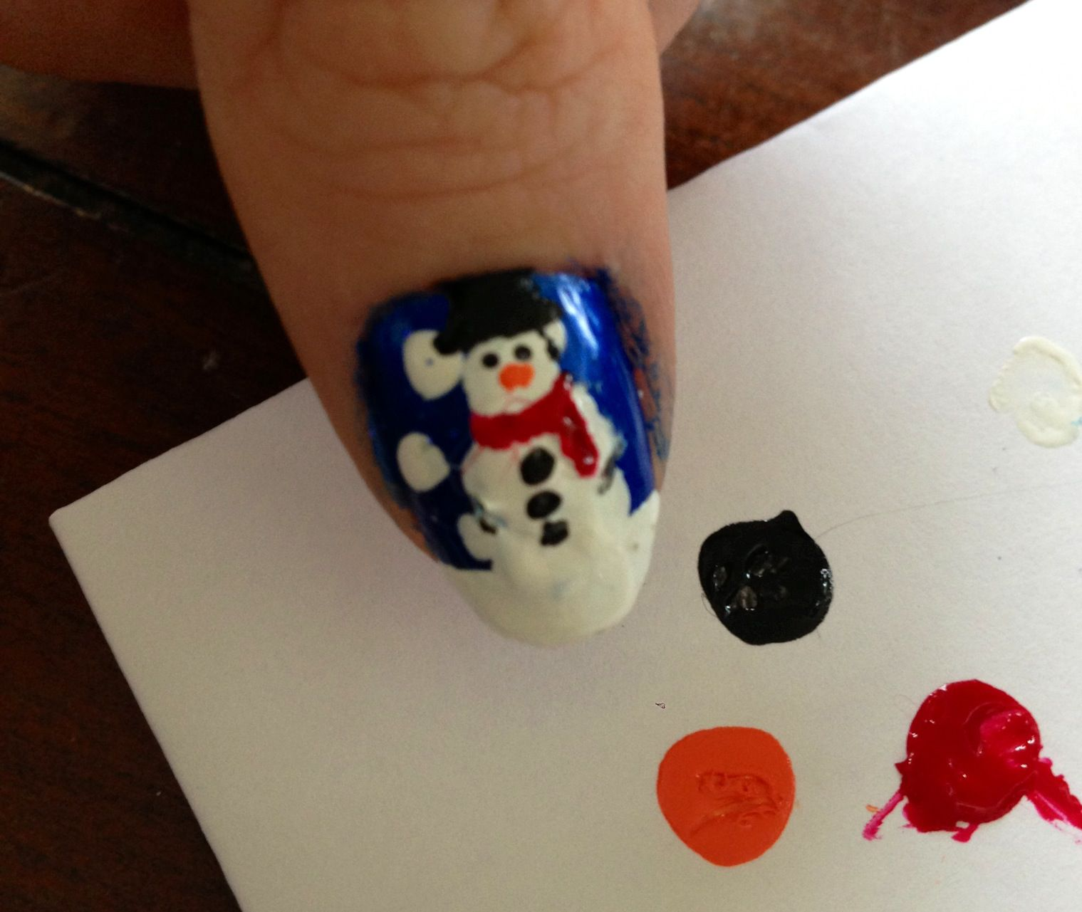 Tutorial - Snowy Night (With Snowmen!) - Nails For Nickels