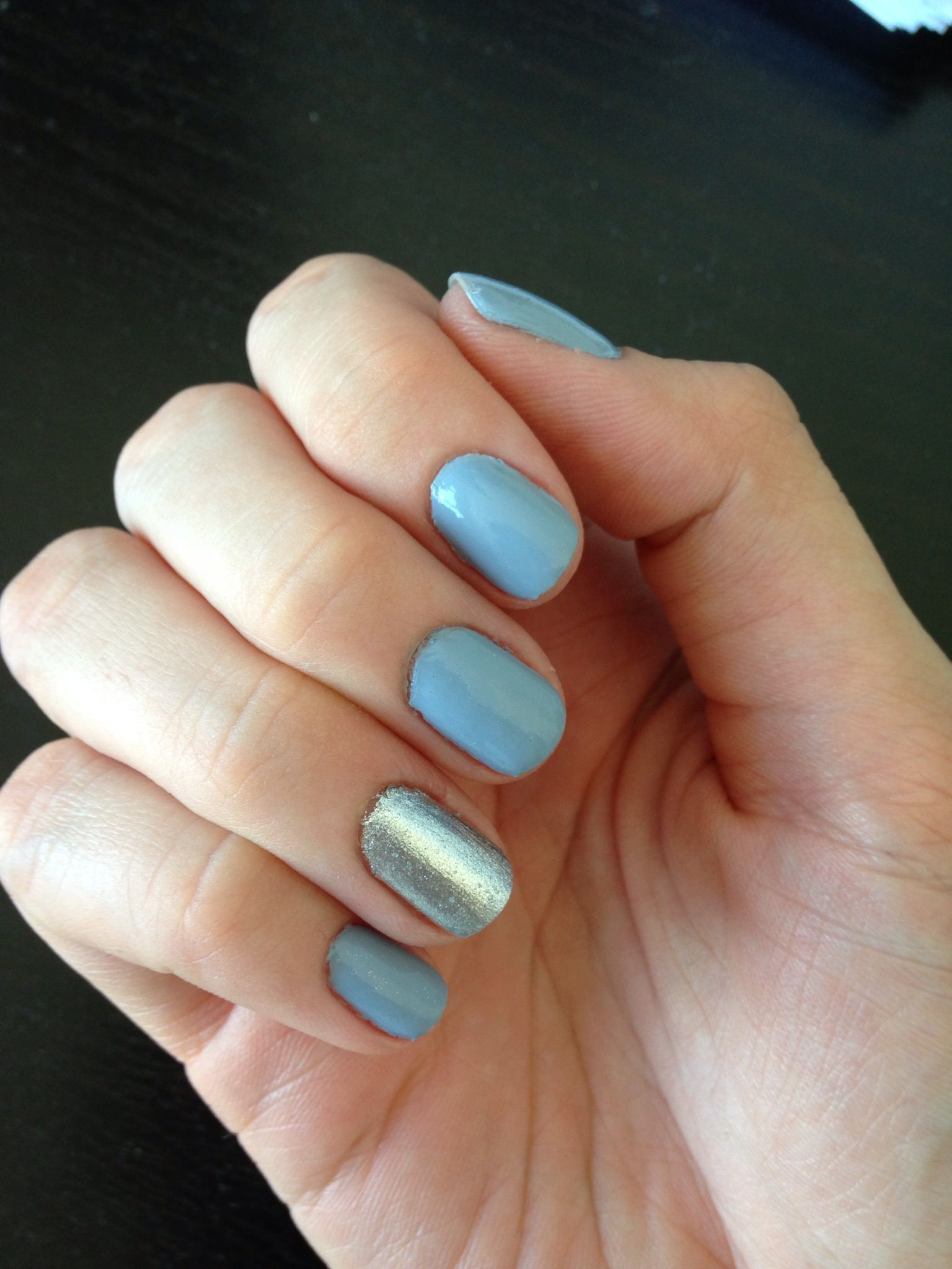 Nails This Week Blue Gray Amp Silver Nails For Nickels